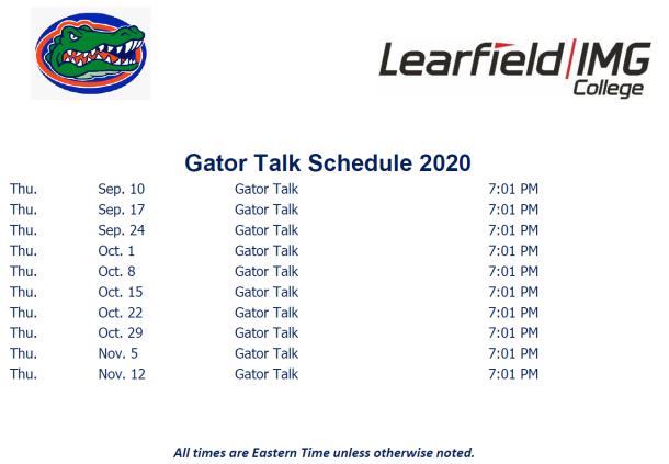 GatorTalk Schedule 2020